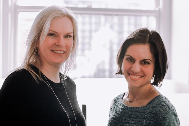 Happenstance co-founders Stephanie Choporis and Kathy Bartlett