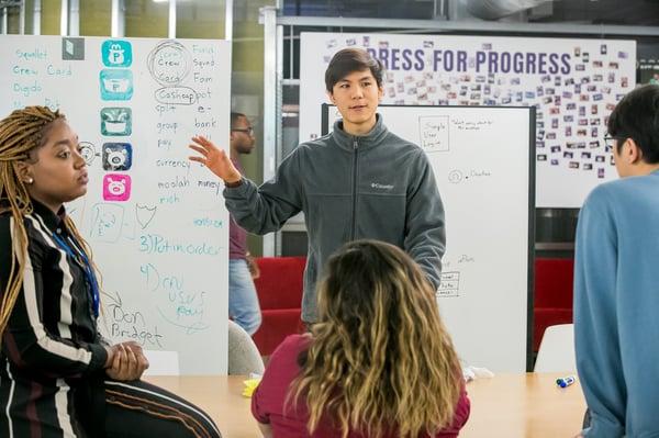 Students Talk Shop